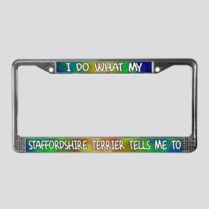 Do what Staffordshire Terrier License Plate Frame