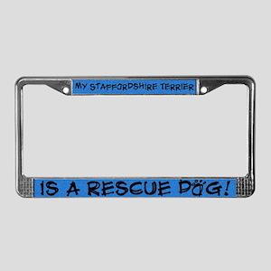Rsce Dog Staffordshire Terrier License Plate Frame
