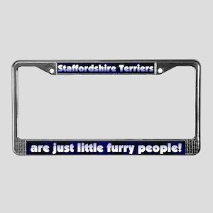 Frry Ppl Staffordshire Terrier License Plate Frame