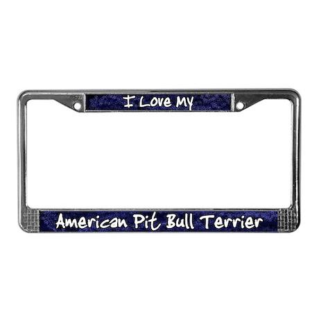Funky Love Pit Bull License Plate Frame