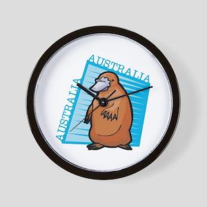 Australian Platypus Wall Clock