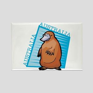 Australian Platypus Rectangle Magnet