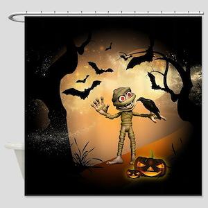 Halloween, Funny mummy Shower Curtain