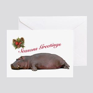 Season's Greetings Hippo Greeting Cards (Pk of 20)