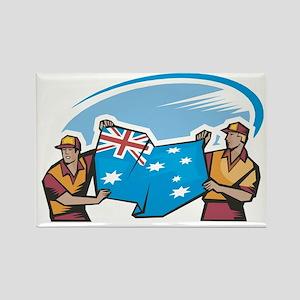 Australian Flag Bearer Rectangle Magnet