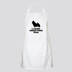 I Love Norwich Terrier Dog Light Apron