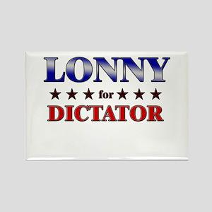 LONNY for dictator Rectangle Magnet