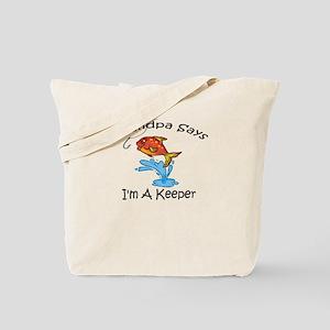 I'm A Keeper Grandpa Tote Bag