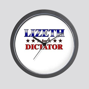 LIZETH for dictator Wall Clock