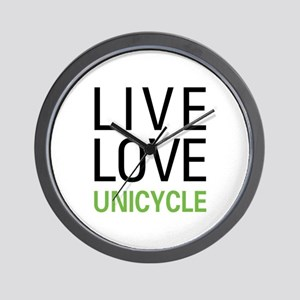 Live Love Unicycle Wall Clock