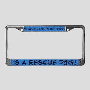 Rescue Dog German SH Pointer License Plate Frame
