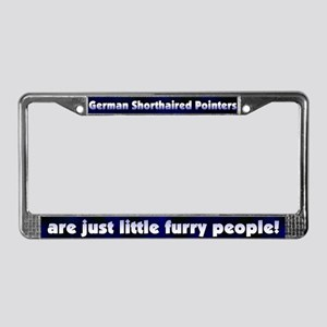 Furry People German SH Pointer License Plate Frame