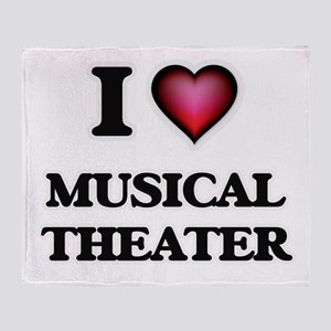 I Love MUSICAL THEATER Throw Blanket