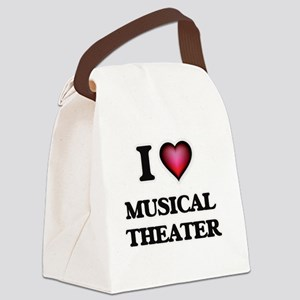 I Love MUSICAL THEATER Canvas Lunch Bag