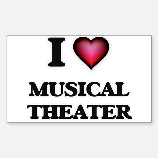 I Love MUSICAL THEATER Stickers