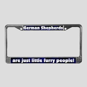 Furry People German Shepherd License Plate Frame