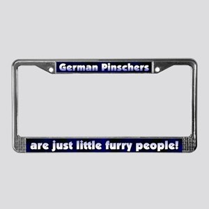 Furry People German Pinscher License Plate Frame