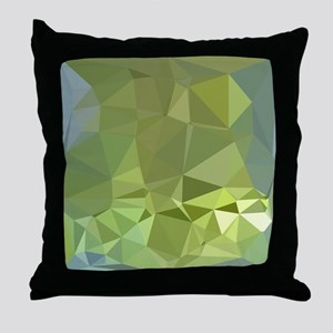 Olive Drab Abstract Low Polygon Background Throw P