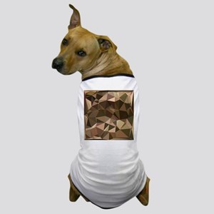 Sienna Abstract Low Polygon Background Dog T-Shirt