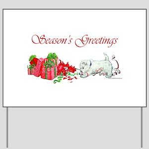 Westie Greetings Yard Sign