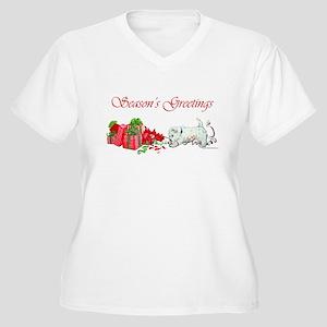 Westie Greetings Women's Plus Size V-Neck T-Shirt