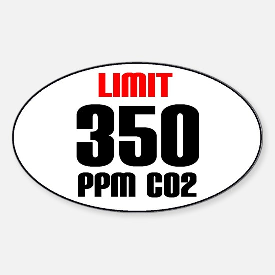oval 350ppm limit Decal