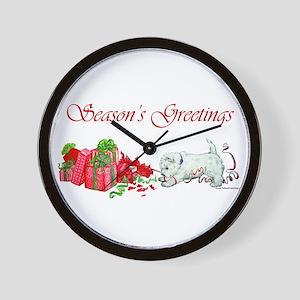 Westie Greetings Wall Clock