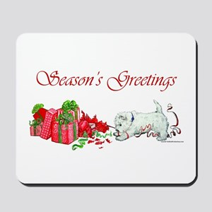Westie Greetings Mousepad