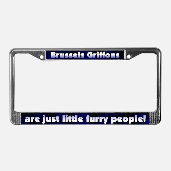 Furry People Brussels Griffons License Plate Frame