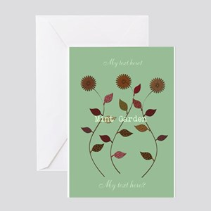 Cute Mint Garden Floral Greeting Cards