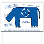 Rhino Facts Yard Sign