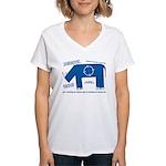 Rhino Facts Women's V-Neck T-Shirt
