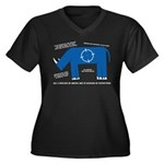 Rhino Facts Women's Plus Size V-Neck Dark T-Shirt