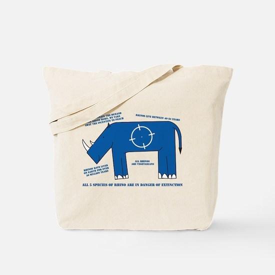 Rhino Facts Tote Bag