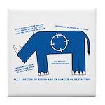 Rhino Facts Tile Coaster