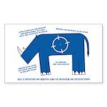 Rhino Facts Rectangle Sticker