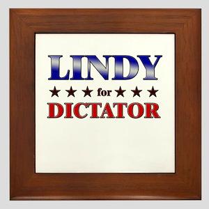 LINDY for dictator Framed Tile
