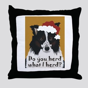 Australian Shepherd Do You Herd Throw Pillow