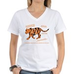 Tiger Facts Women's V-Neck T-Shirt