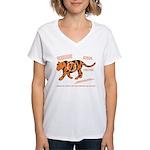Tiger Facts Women's V-Neck T-Shirt