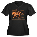 Tiger Facts Women's Plus Size V-Neck Dark T-Shirt