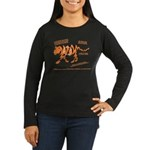 Tiger Facts Women's Long Sleeve Dark T-Shirt
