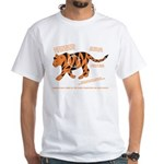 Tiger Facts White T-Shirt