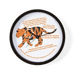 Tiger Facts Wall Clock