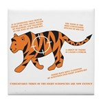 Tiger Facts Tile Coaster