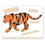 Tiger Facts Small Poster