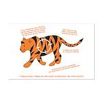 Tiger Facts Mini Poster Print