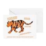 Tiger Facts Greeting Cards (Pk of 10)
