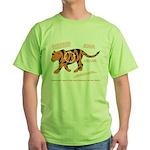 Tiger Facts Green T-Shirt