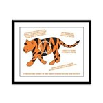 Tiger Facts Framed Panel Print